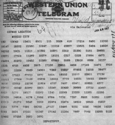 IMage of the Zimmerman Telegram