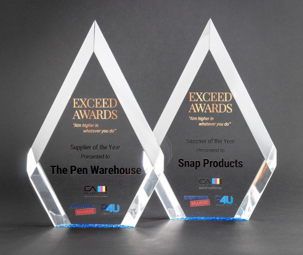 Pen Warehouse win Exceed Supplier Award
