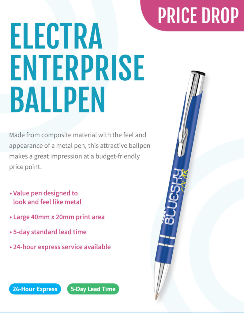 article Image for Electra Enterprise Ballpen – Price Drop and Marketing Support